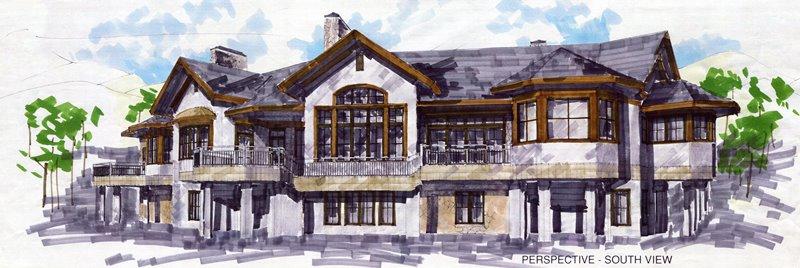 3 - South facade perspective
